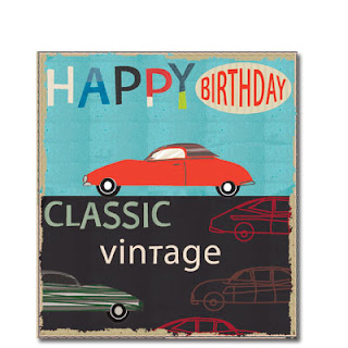 red car classic vintage men's cards liz and pip ltd