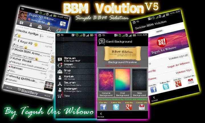 BBM Mod Volution 5.0 Apk Versi 2.5.0.36