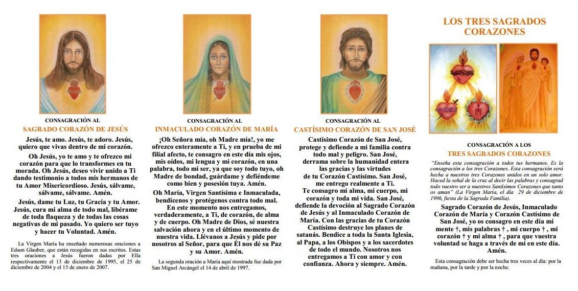 Los tres Sagrados Corazones