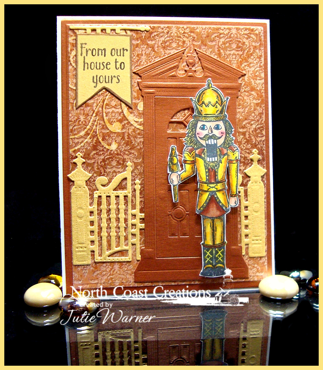 Stamps - North Coast Creations Nutcracker, Sweet Christmas Wishes, Our Daily Bread Designs Winter Paper Collection 2014, ODBD Custom Gilded Gate Die, ODBD Custom Pennant Dies