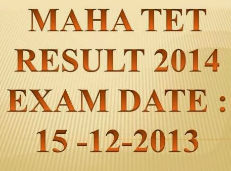 Get Maha TET December 2013 Result Paper1, Paper2  at www.mahatet.in