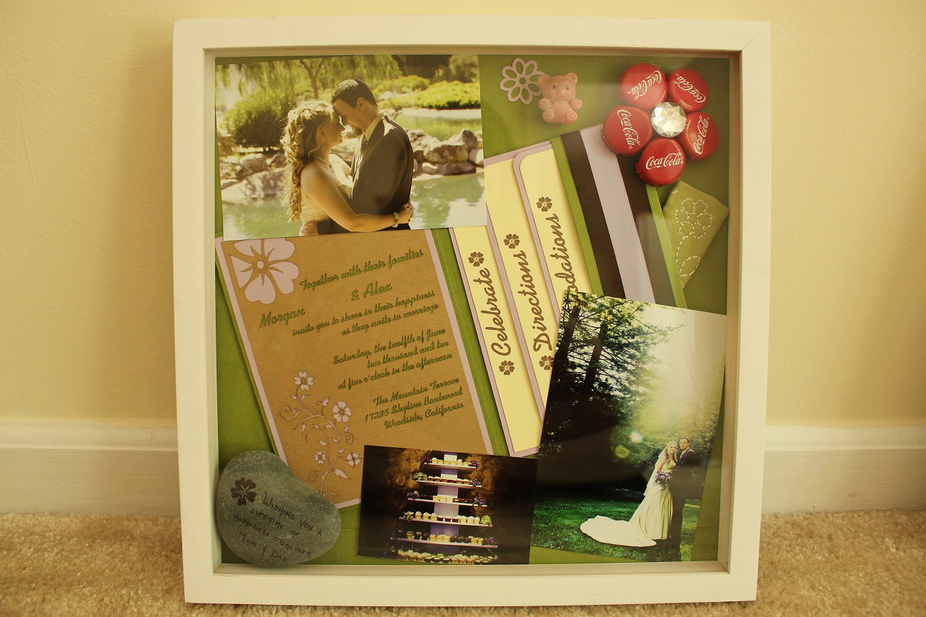 The Handcrafted Life*: Shadow Boxes: A Little Snapshot of Our Wedding