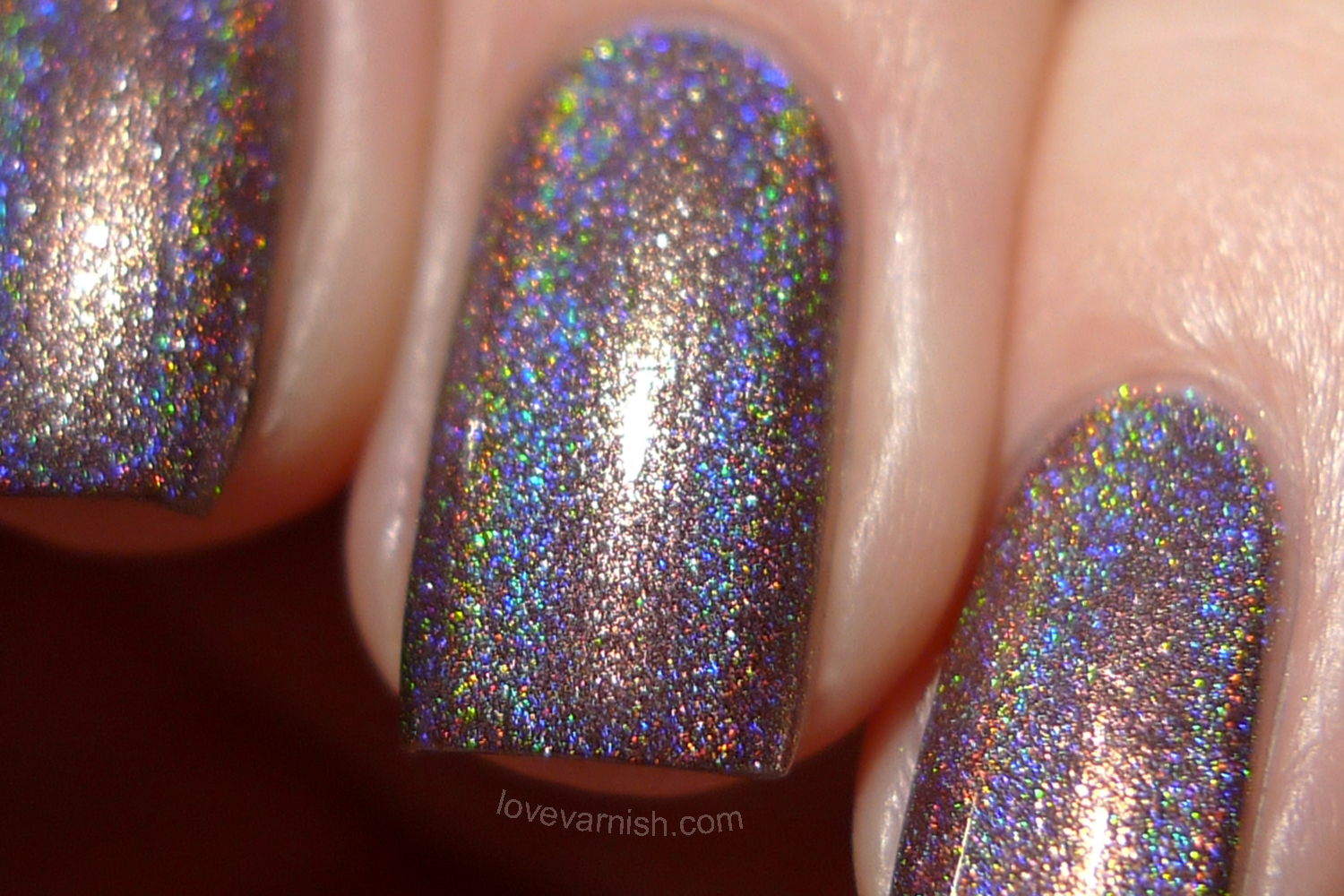 Too Fancy Lacquer It's Christmas Burnt Lavender swatches review