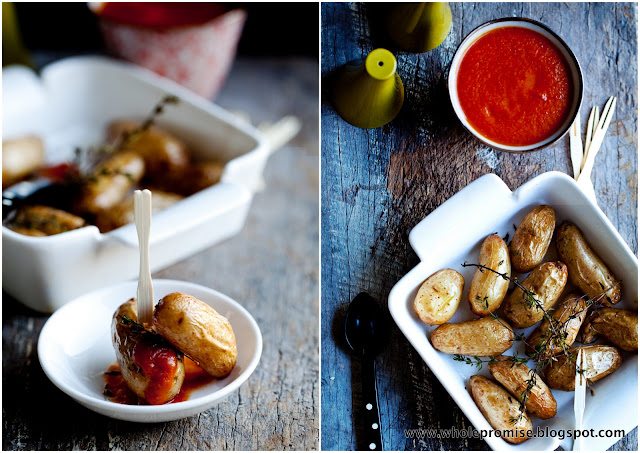 Spiced Tomato Ketchup and Roasted Kipfler Potato's