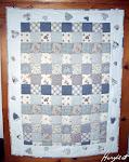 Blau-weißer Quilt