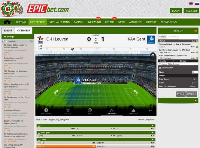 EpicBet Live Bets