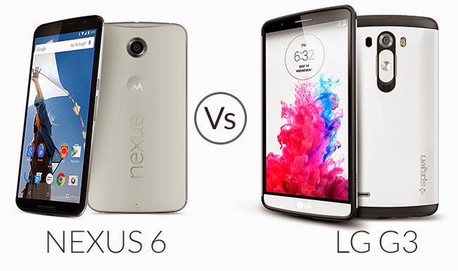 Smartphone Comparison Review: Google Nexus 6 vs LG G3