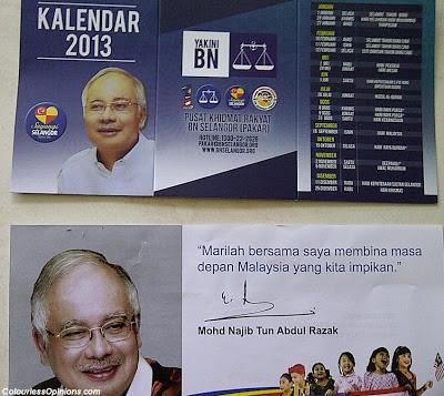 Selangor Prime Minister Perdana Menteri 2013 calender