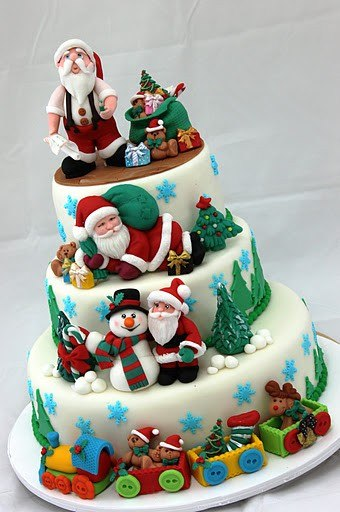 Christmas Cake Ideas Santa : Christmas Cake Decoration Ideas Images