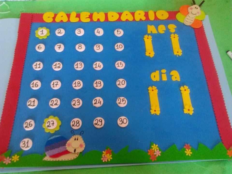 calendarios con goma eva