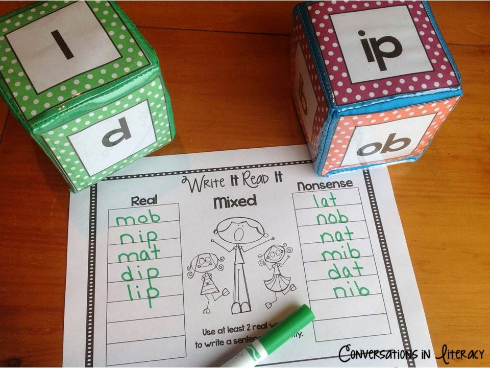 onset and rime blending to help students read and write words