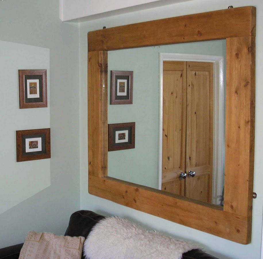 Large Wall Mirrors Woodframe
