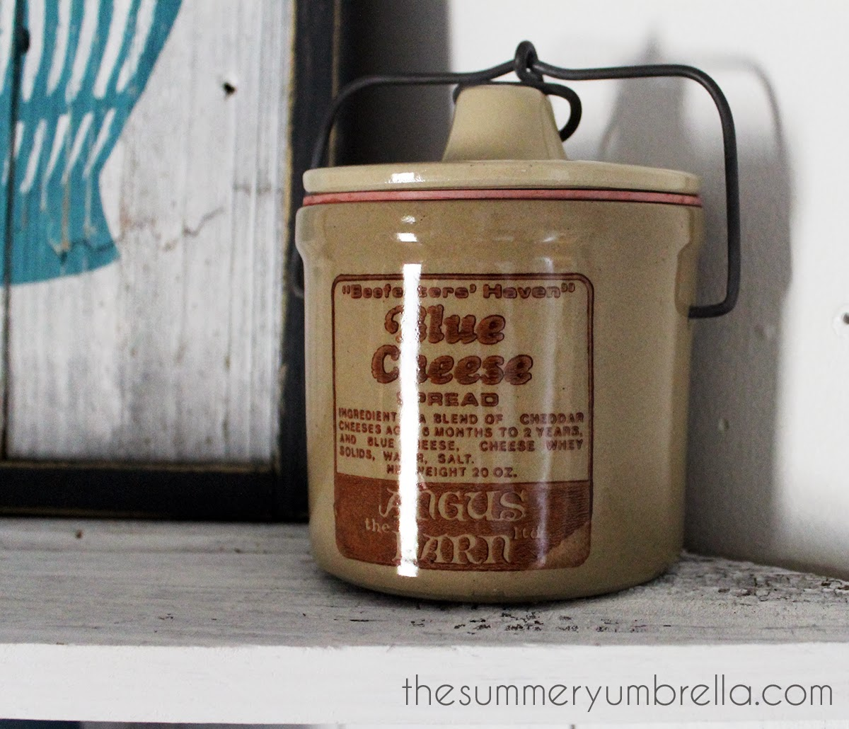 vintage blue cheese canister