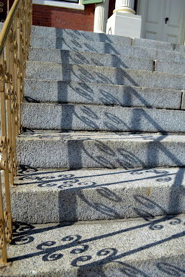 shadow, steps, custom house, salem, granite, curly