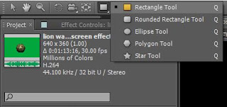 Rectangle tool in adobe after effects cs5