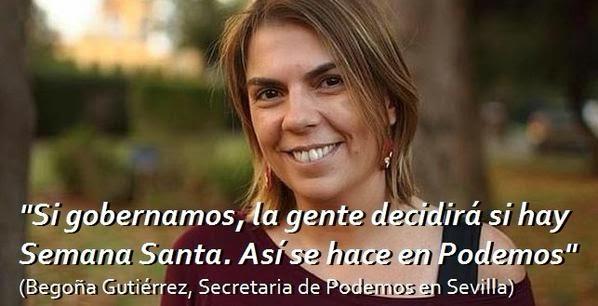 Begoña Gutiérrez, secretaria del círculo de Podemos en Sevilla
