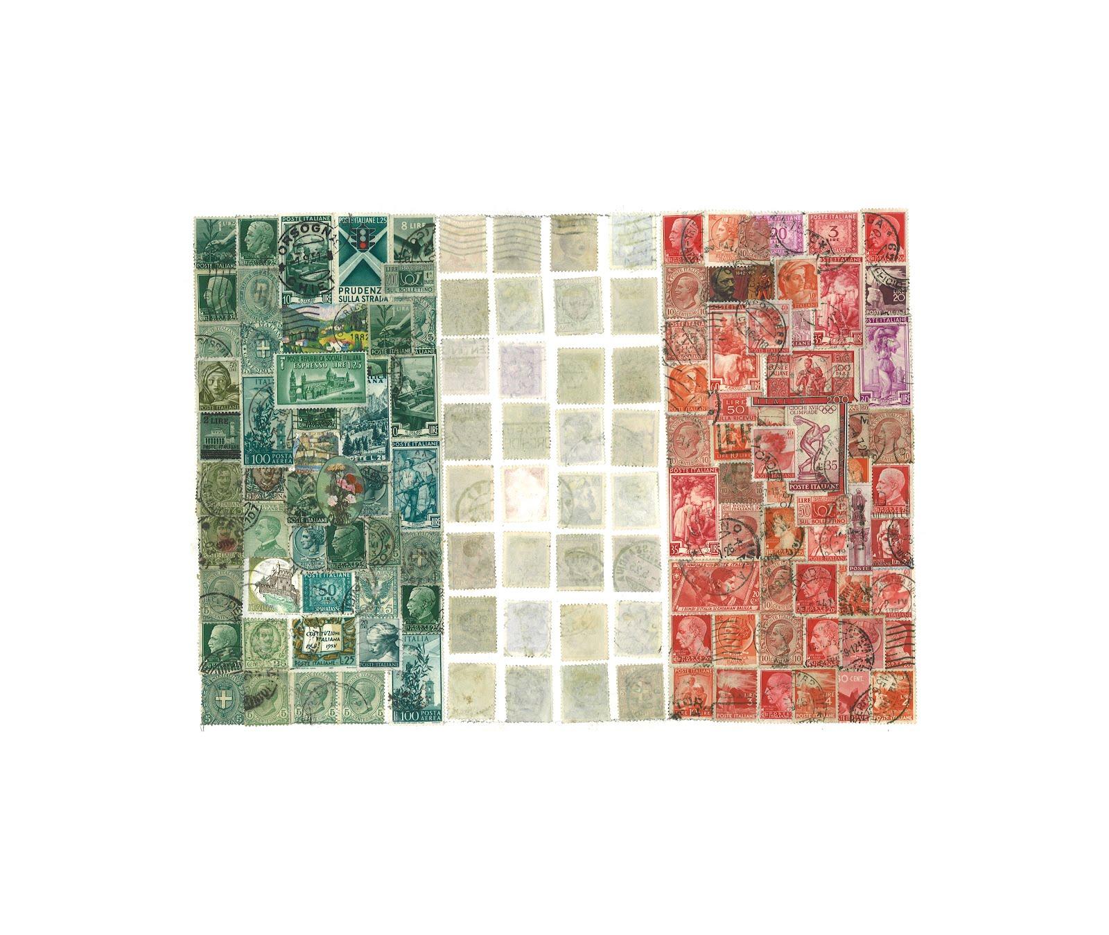 Rachel Markwick Italian Stamp Collage flag