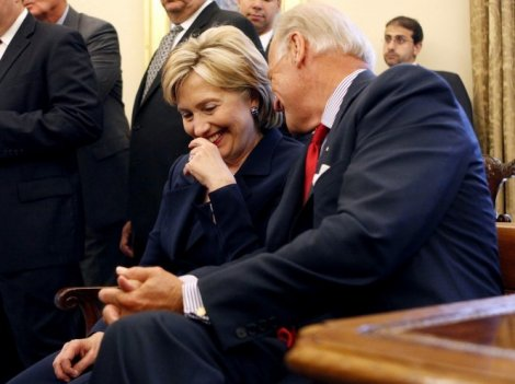 Hillar and Biden: BFFs