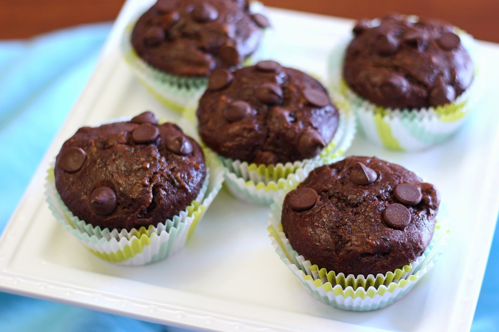 ... free vegan double chocolate zucchini muffins - Sarah Bakes Gluten Free