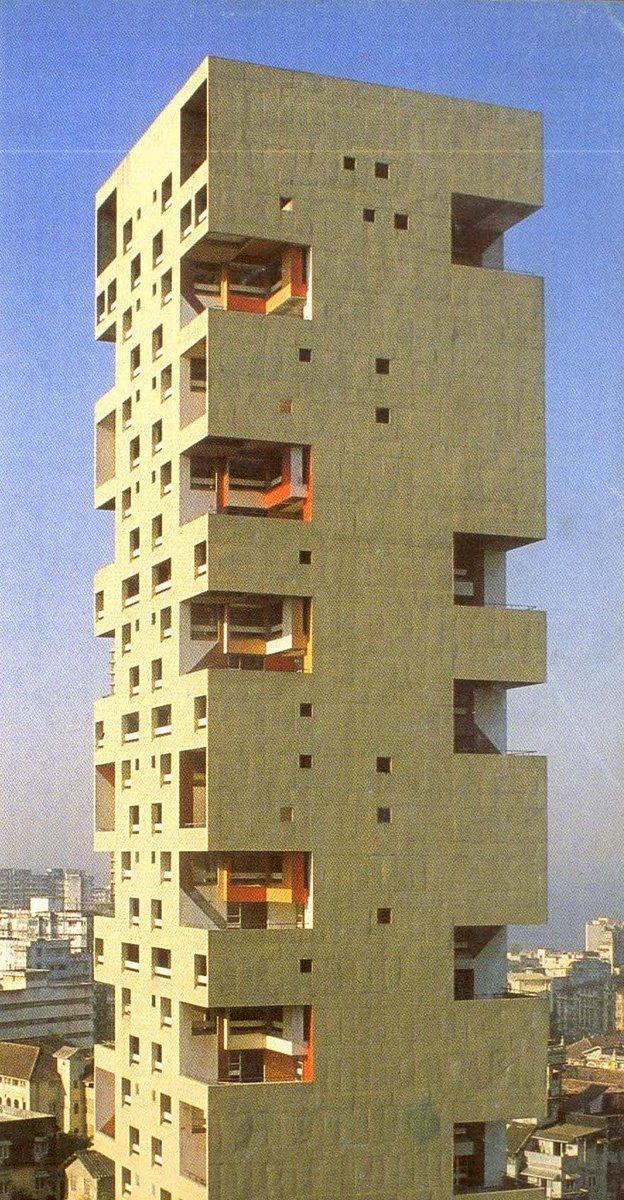 Majestic Plumage Charles Correa Kanchanjunga Apartments