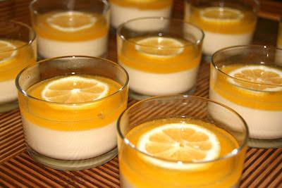 Mousse de llimona i taronja sense forn