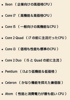 インテル cpu xeon core i7 i5 quad i3 duo pentium celeron atom