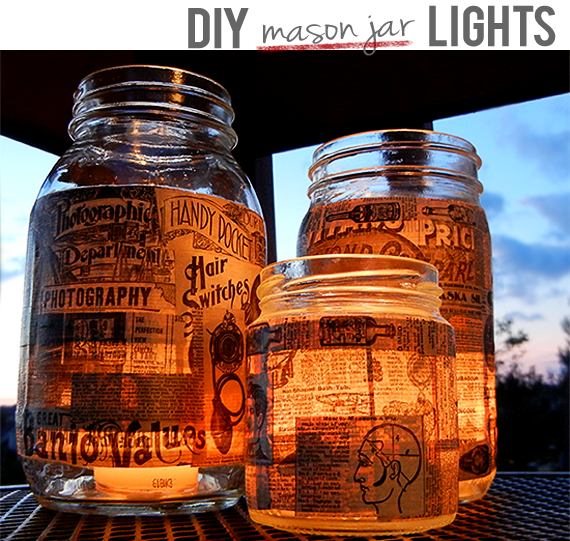 DIY Mason Jar Lanterns // Bubby & Bean