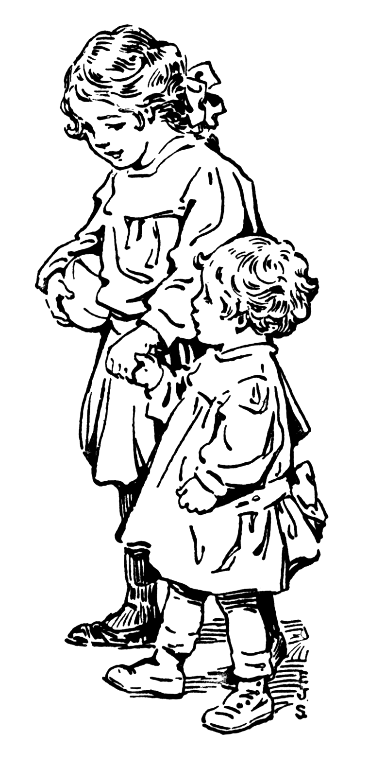 sisters coloring pages - photo#35