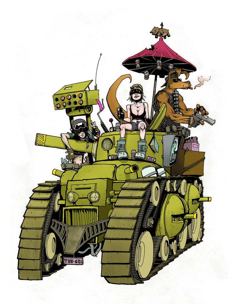 [Wasteland] inspirations diverses Tank-girl