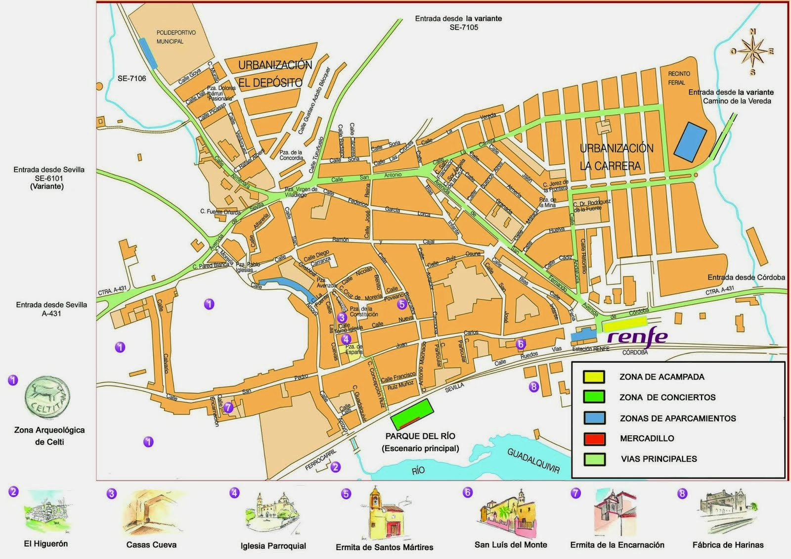Peñaflor: Croquis monumental