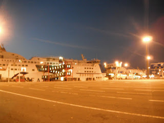 Waiting for a buyer, SeaFrance ferries tied up and unused in Calais port