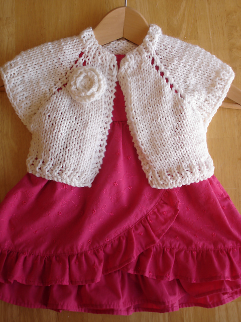 Free Knitting Pattern For Girls Bolero : Fiber Flux: FO - Easter Shrug