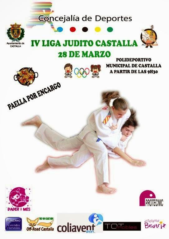 28/03/15 IV Jornada Liga Judito en Castalla, más de 250 inscritos!!