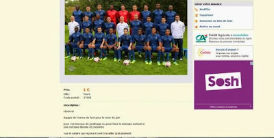 Les Bleus en vente sur leboncoin.fr