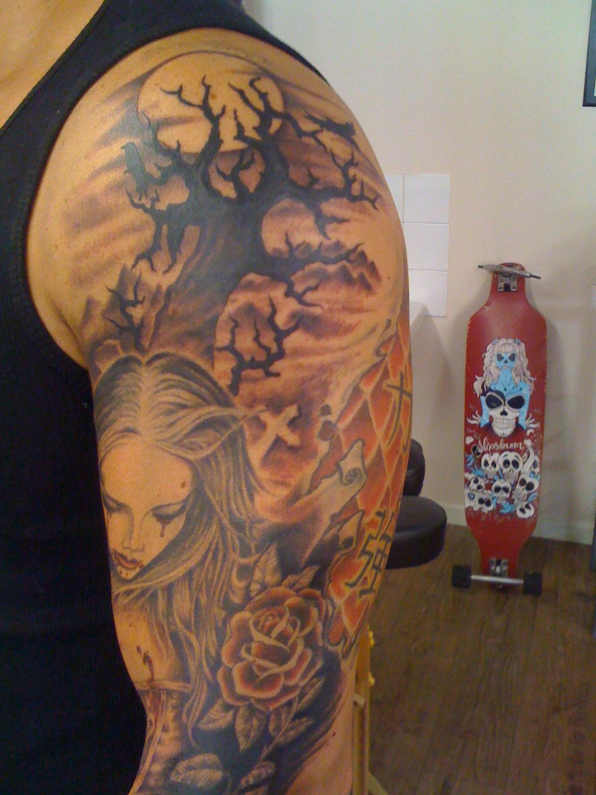 state of art tattoo nglar d da tr d i m nsken samt en ny frisyr. Black Bedroom Furniture Sets. Home Design Ideas