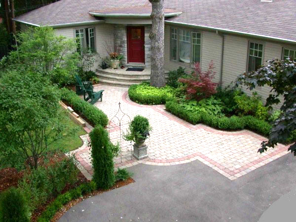Front Yard Landscaping Tutorial : Toronto landscaping front yard vs