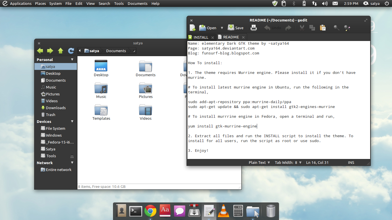 How to Install elementary Dark GTK Theme in Ubuntu 11 04 Natty