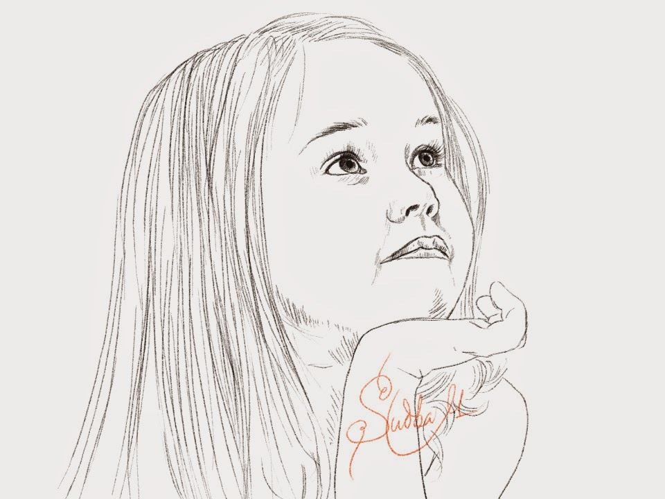 Easy Drawing Of Little Girl The Image