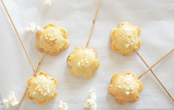 Sugary & Buttery - Popcorn Pie Pops with Salty Caramel