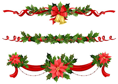 Adornos navideños para decorar tarjetas, blogs y paginas en Navidad