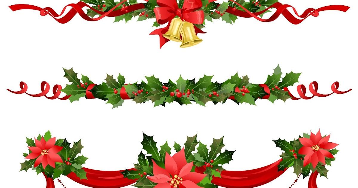 Banco de im genes adornos como guirnaldas o nochebuenas para decorar tarjetas o postales de navidad - Adornos para fotos gratis ...