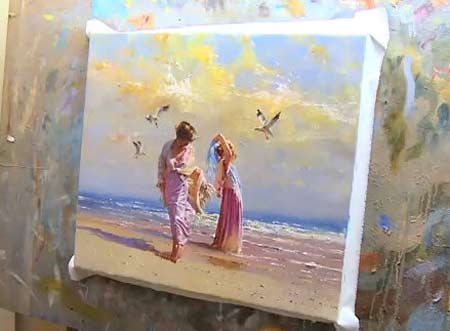 Breezy Day - Beach Speed Painting By Robert Hagan