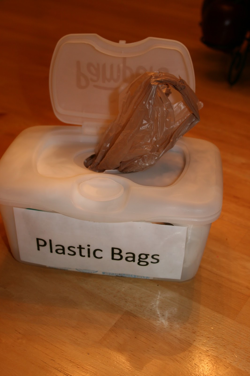 How to Reuse Baby Wipe Containers to Store Plastic Bags - The Teacheru0027s Wife & How to Reuse Baby Wipe Containers to Store Plastic Bags - The ...