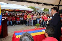 Gobernador Alexis Ramírez realizó entrega de materiales para rehabilitación de viviendas en Ejido