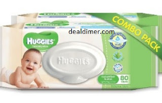 Huggies Cucumber and Aloe Thick Baby Wipes, 80s Pack Combo of 2 Packs