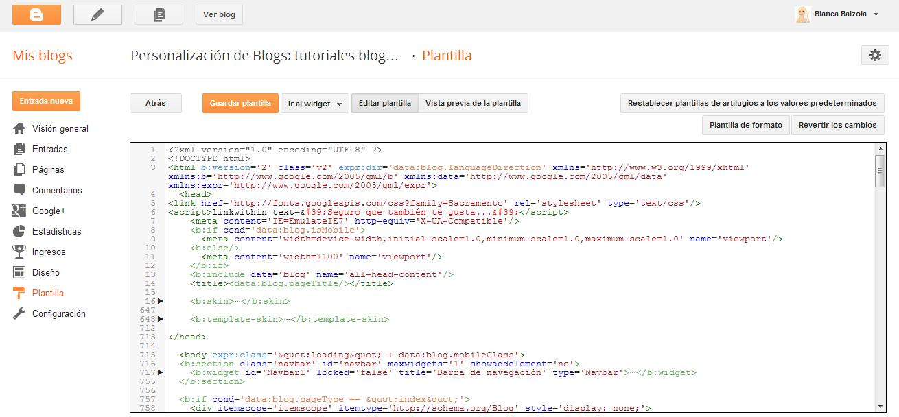 Post especial sobre los cambios en la Plantilla html Blogger ...