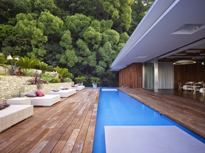 Long outdoor pool ideas