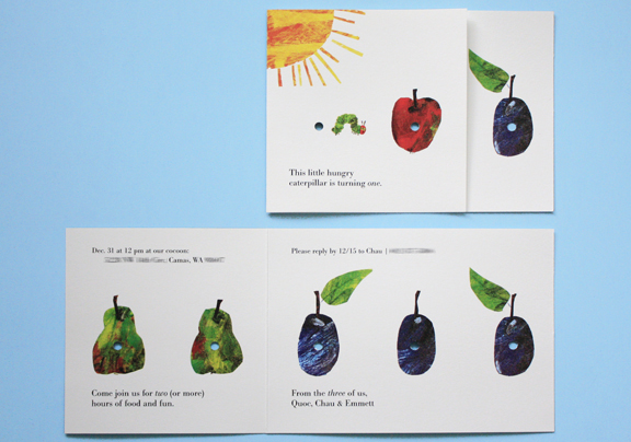 Free printable invitations the very hungry caterpillar for Very hungry caterpillar templates free