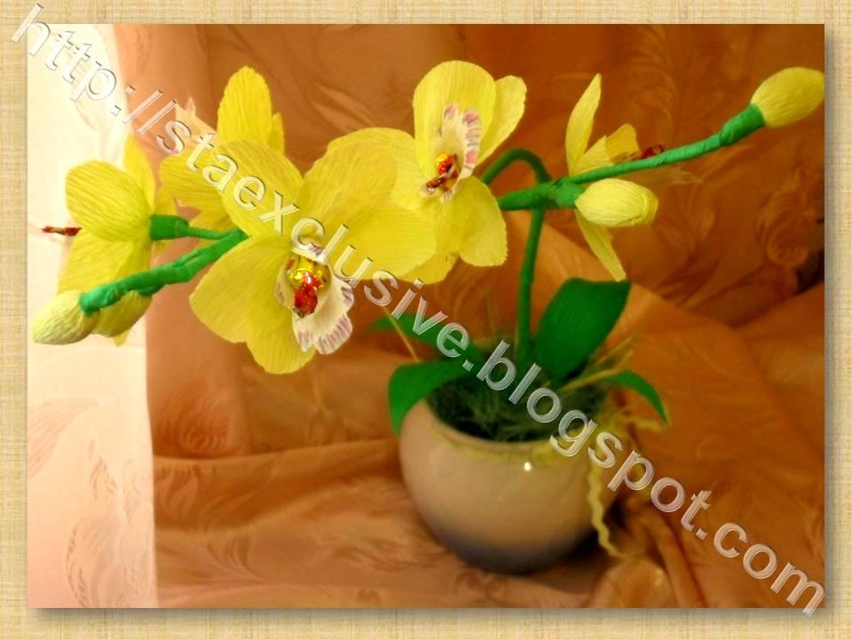 Букет своими руками орхидея