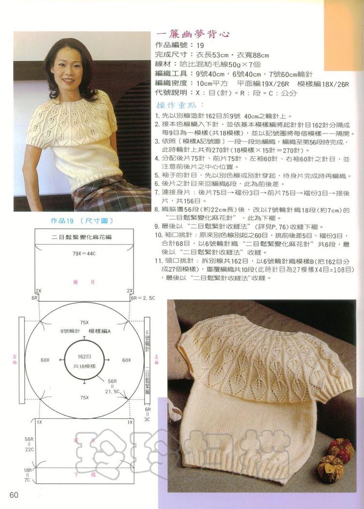 Вязание детской кофточки с круглой кокеткой спицами снизу